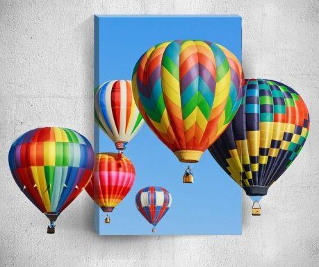 Tablou 3D Effect Hot Air Balloons 40x60 cm