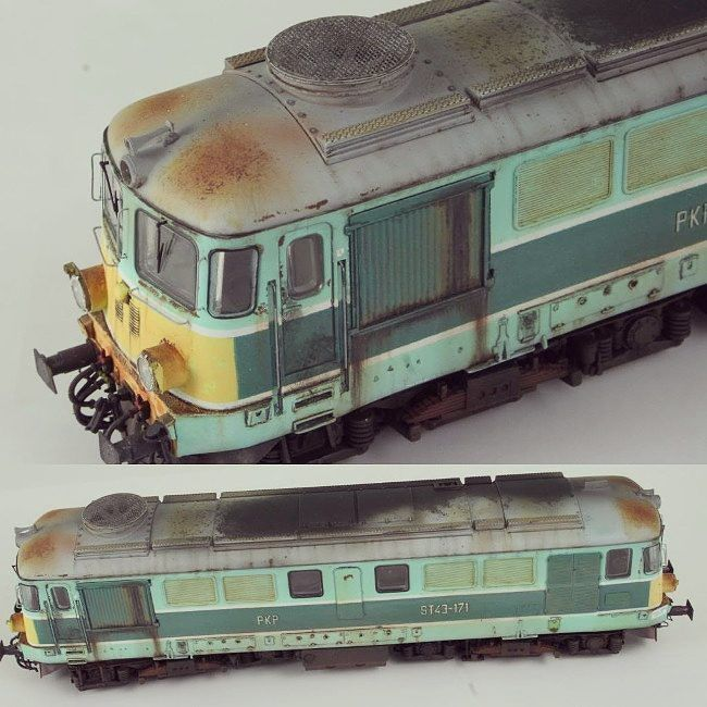 Electroputere ST43-171 PKP Wrocław 1/87 #scalemodel #plastimodelismo #ferromodelismo #weathering #effect #ferrugem #rust #train #trem #modelismo #modelisme #scalemodelkit #miniatura #miniature #maqueta #maquette #miniatur #hobby #plastickits #usinadoskits #udk