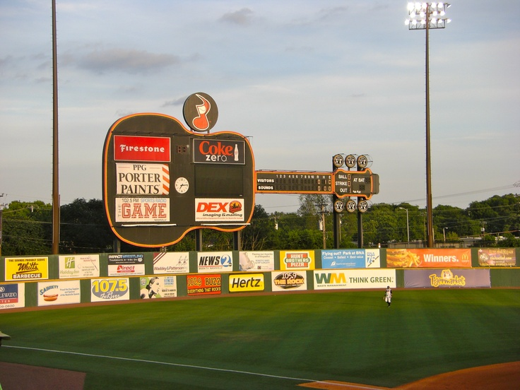 The Nashville Sounds (Nashville's minor league baseball team) have a very unique spin on the traditional scoreboard!
