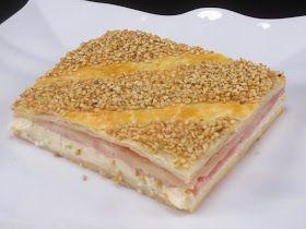 Los fogones de Ana Sevilla: Empanada de hojaldre de jamón y queso