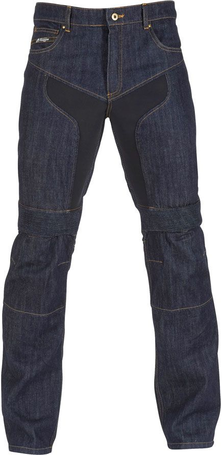 The most comfortable and protective armoured jeans you'll find. Furygan DH jeans, available in black or blue.