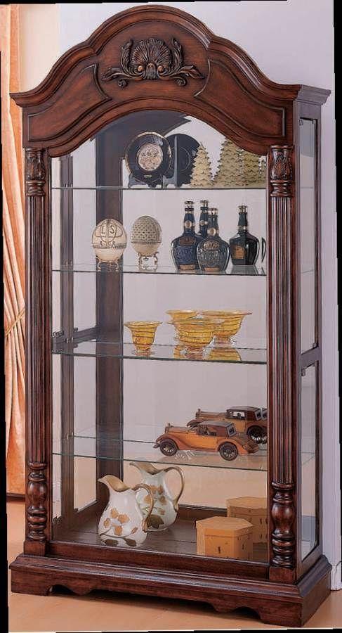 Acme Furniture Denton Cherry Curio Cabinet  Acme