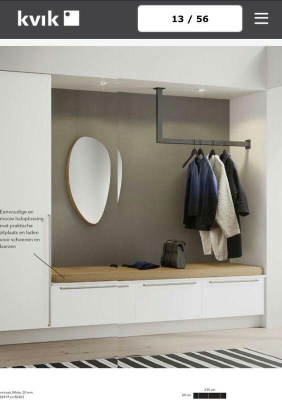 Garderobe – enlever la pole mais garder le miroir …
