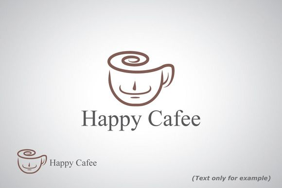 Happy Cafe Logo Template by Bevouliin Design on Creative Market