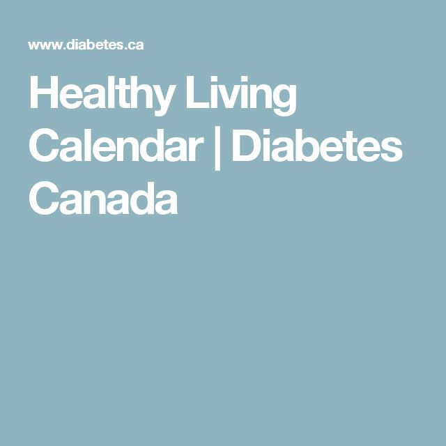 Healthy Living Calendar | Diabetes Canada