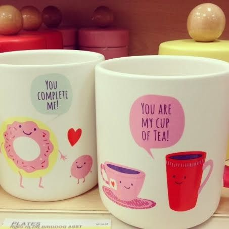 "@Target Valentine's Day Mugs! I have the ""You complete me"" mug! :)"