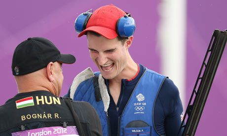Peter Wilson, double-trap shooting GOLD medallist