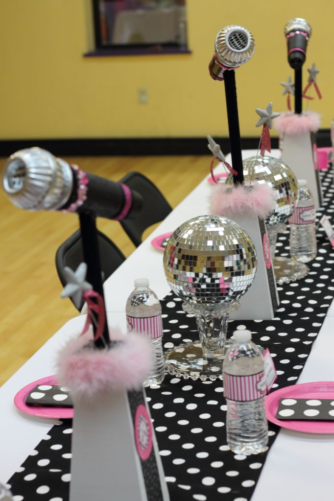 Cute Table Decor - Rock Star Party