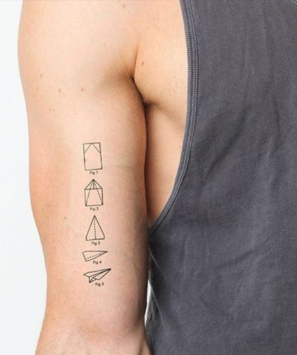 Paper Plane Tattoo Smalltattoodesigns Meaningfultattoos