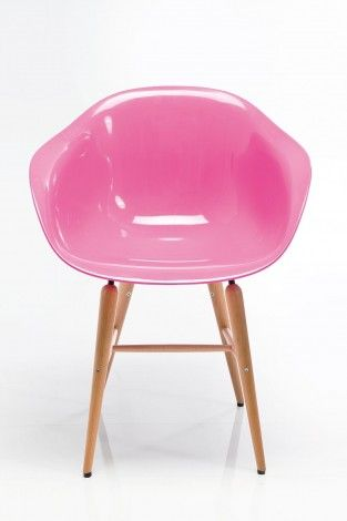 KARE Prague - Chair with Armrest Forum Wood Pink
