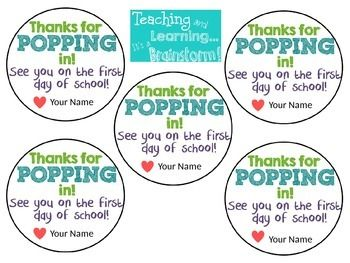 Download the PowerPoint file and edit your own lollipop tags for your open house!Just click on the text boxes, enter your name and print!Tape the tags onto the lollipop sticks and you have a wonderful personalized treat for your kiddos!Please contact me at classroombrainstorm@gmail.com or through TPT if you have any questions!