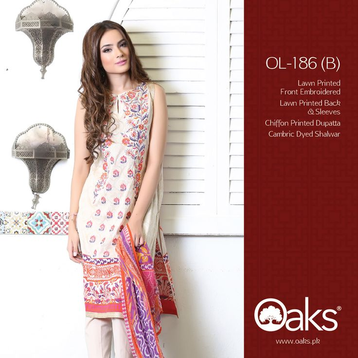Lawn Suit with Chiffon Dupatta.  3 Piece: OLC-186 (B) | RS. 3,590 |   2 Piece: OLC2P-1205 (B) | RS. 3,190 |