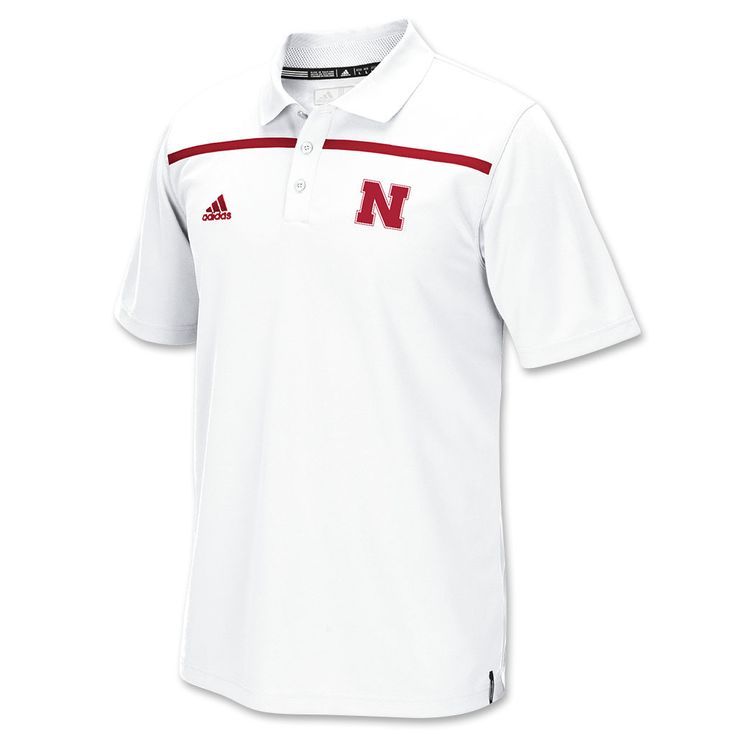 2015 Nebraska Football Coaches Polo by Adidas - SS - White
