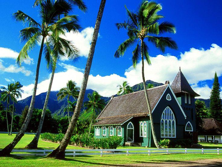 hawaii churches | 10 Most Beautiful Hawaii Wallpapers — www.piculous.com- Amazing ...Hanalei Church