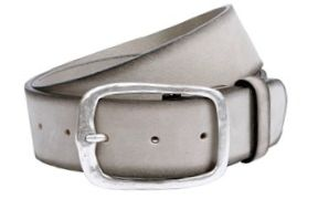 Buckles & Belts - Belt/Gürtel - NOS Collection 2016 - Torean - Nubuk-Leather - grigio - light grey - Design in SWITZERLAND made in ITALY https://www.facebook.com/BucklesBelts