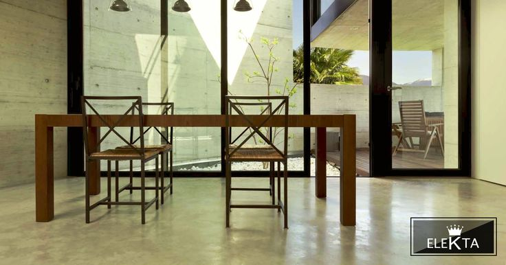 G40 powder resin is the best solution to create floors and walls with natural concrete effect.  Board: G40  www.elekta.co.za