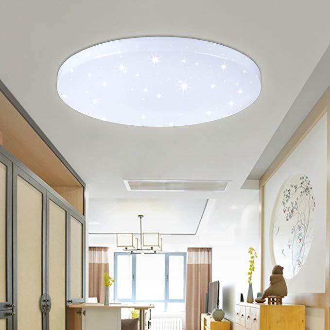 VINGO® 50W LED Wand-Deckenleuchte Weiß rund Deckenlampe Starlight - oster möbel schlafzimmer