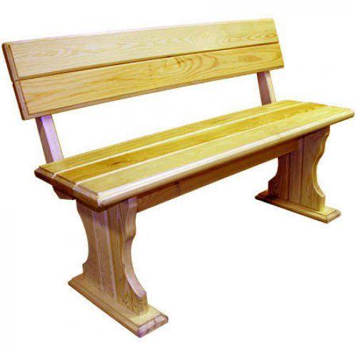 Деревянная скамейка МФДМ Уют (лак) Скамья деревянная со спинкой