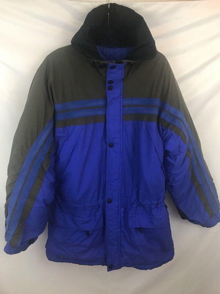 Mountain Goat Mens Ski Jacket Parka Size Large Full Zip Blue Nylon Coat  | eBay