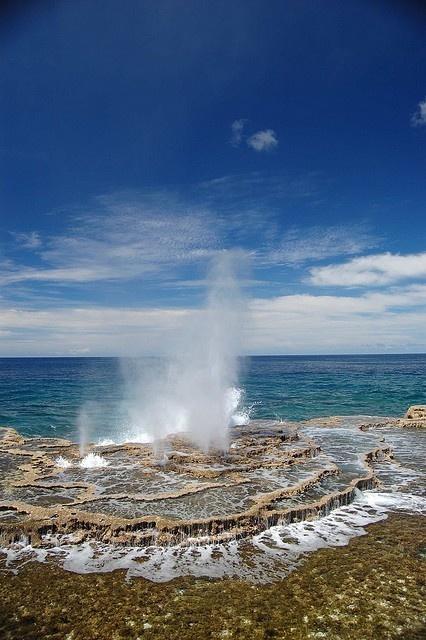 Tonga islands - Houma, the famous blow holes
