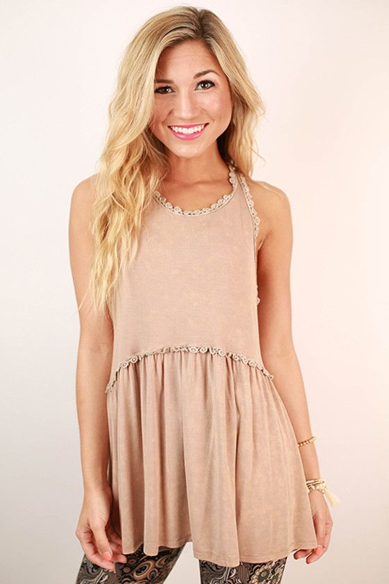 This precious tank is the perfect addition to your spring wardrobe!