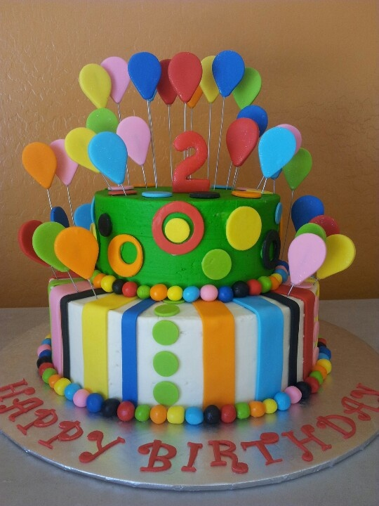 Carnival. Buttercream cake with fondant decorations. My ...