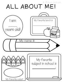ALL ABOUT ME! FREEBIE! - TeachersPayTeachers.com