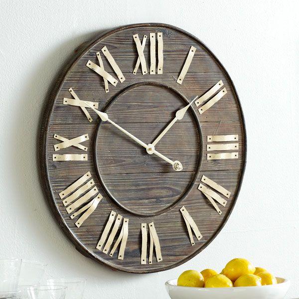 Love this clock: Clocks Wood, Wall Decor, Clocks Wall, Big Wall Clocks, Mirror Wall Art, Distressed European, European Wall, Wall Art Decor, Distressed Wall
