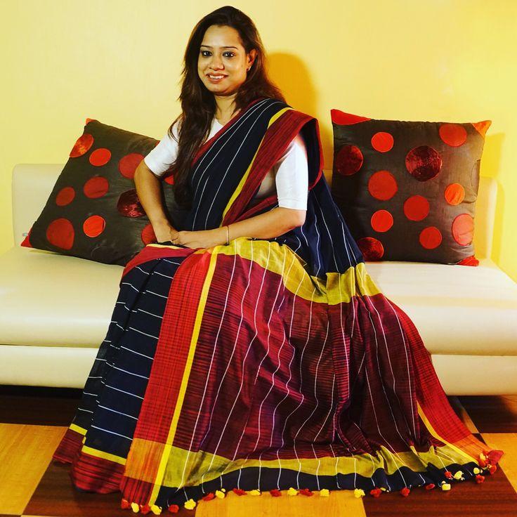Khadi Linen #Saree