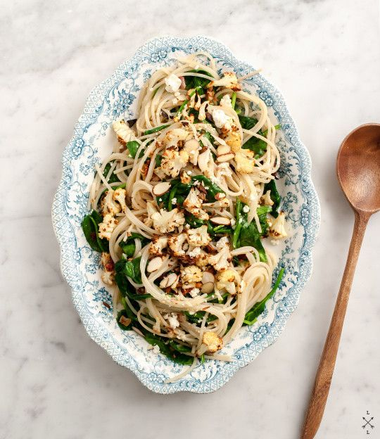 roasted cauliflower pasta recipe #vegan #pasta #cauliflower