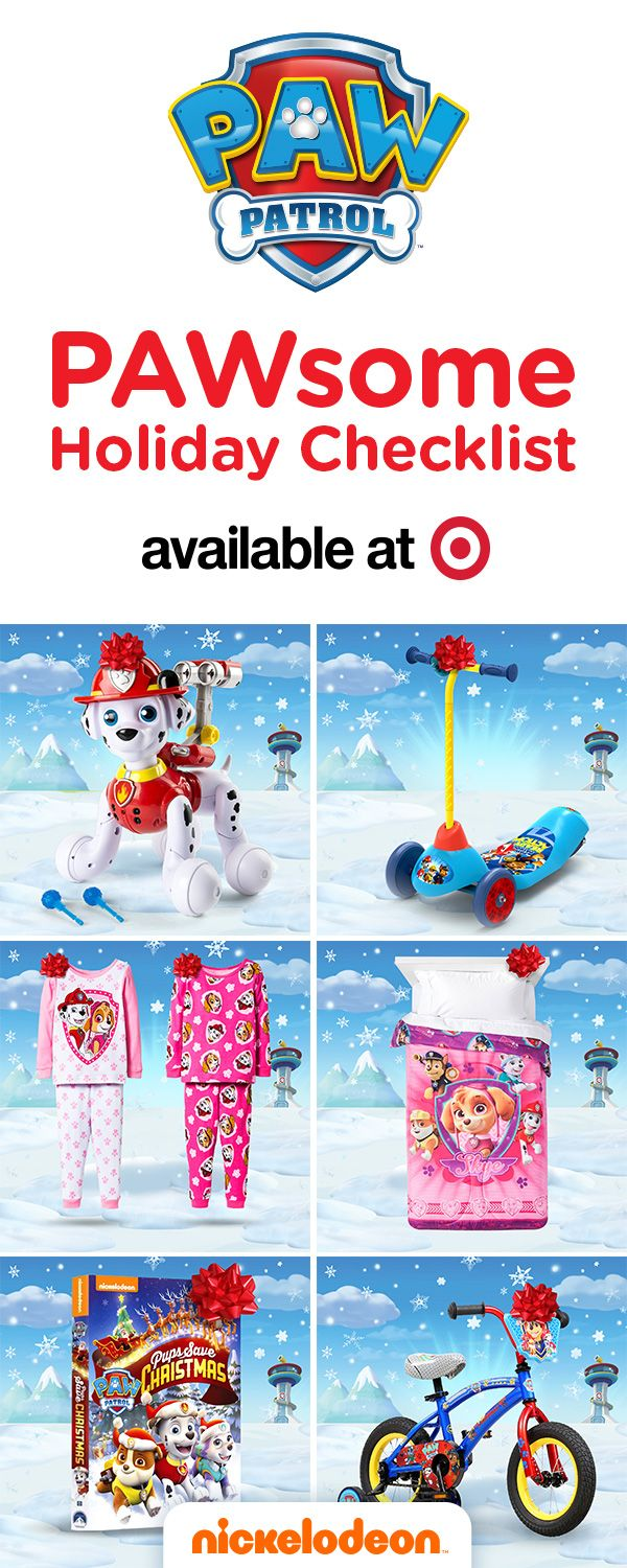 Do you have a PAW Patrol fan in your household? If you're looking for the perfect holiday gift or Christmas gift for your preschooler, hop over to Target or Target.com to cross every item off of your PAWsome holiday checklist. Buy PAW Patrol toys like Zoomer Marshall, or outdoor play items like this PAW Patrol bike or scooter. If your child is more of an indoor cat, get cozy this holiday season with PAW Patrol pajamas, bedding, and the Pups Save Christmas PAW Patrol DVD!