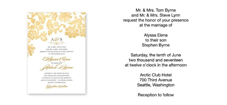 1000+ Ideas About Wedding Invitation Wording Samples On