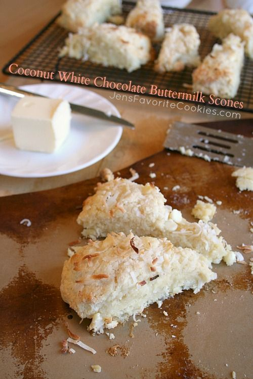 Coconut White Chocolate Buttermilk Scones
