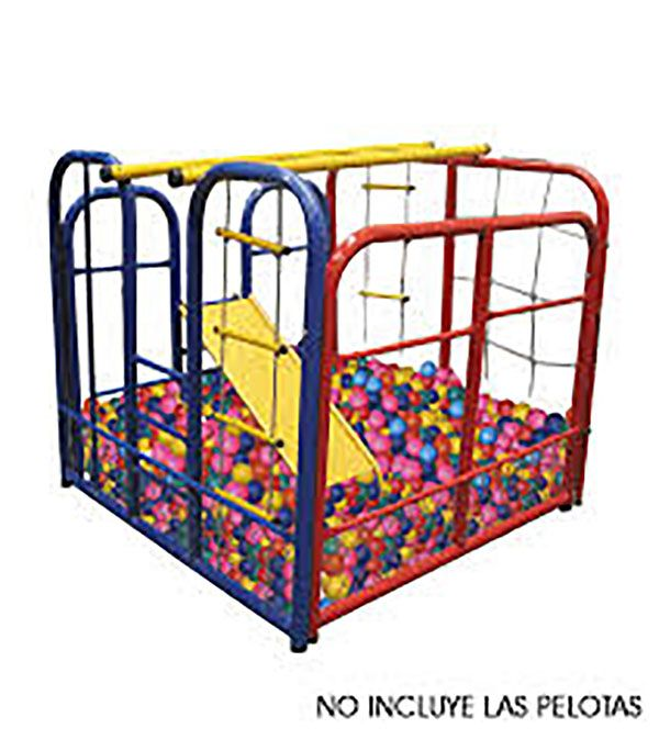 Gimnasio metalico con piscina de pelotas.  Edad +3  Ref 8-13123-13145