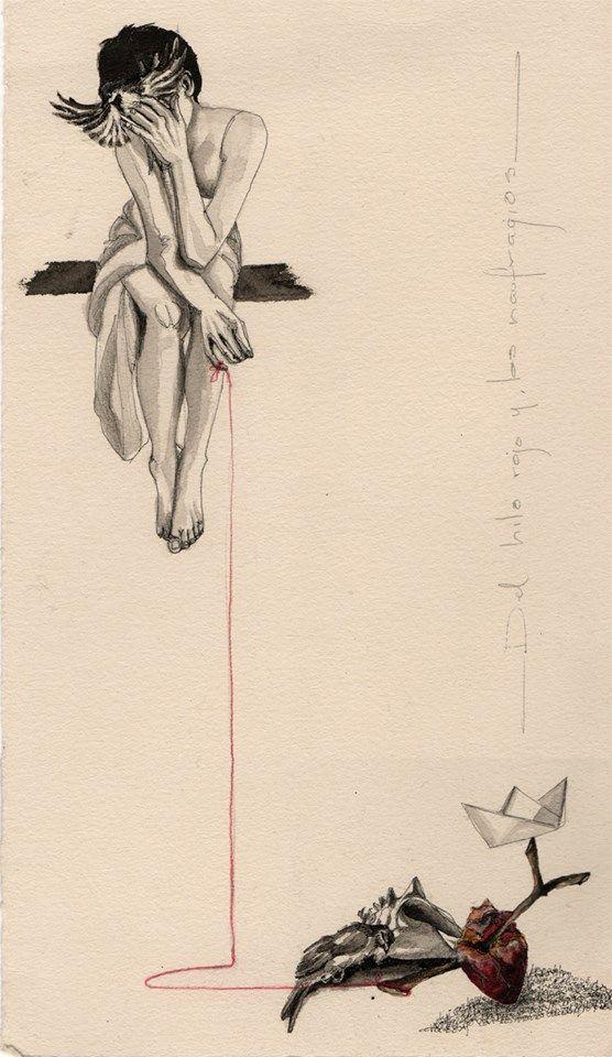 Erika Kuhn. -Del Hilo Rojo y los Naufragios- -the red thread and the shipwrecks-