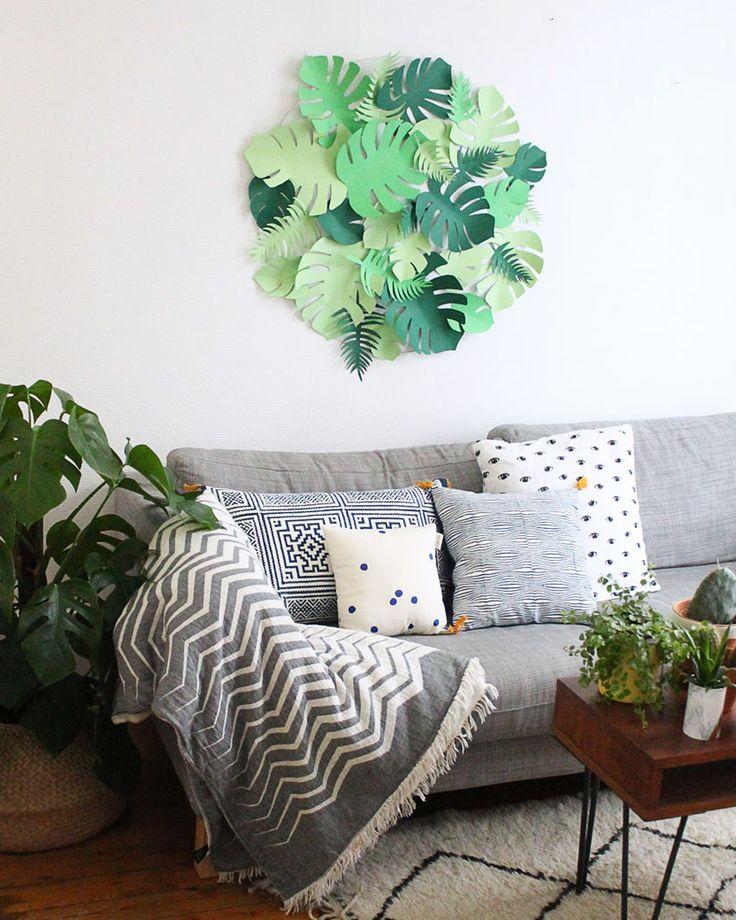 Les 837 meilleures images propos de id es diy diy for Decoration murale vegetale