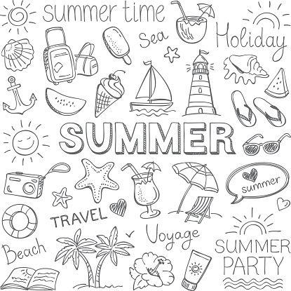 Im Sommer – Vektorgrafik