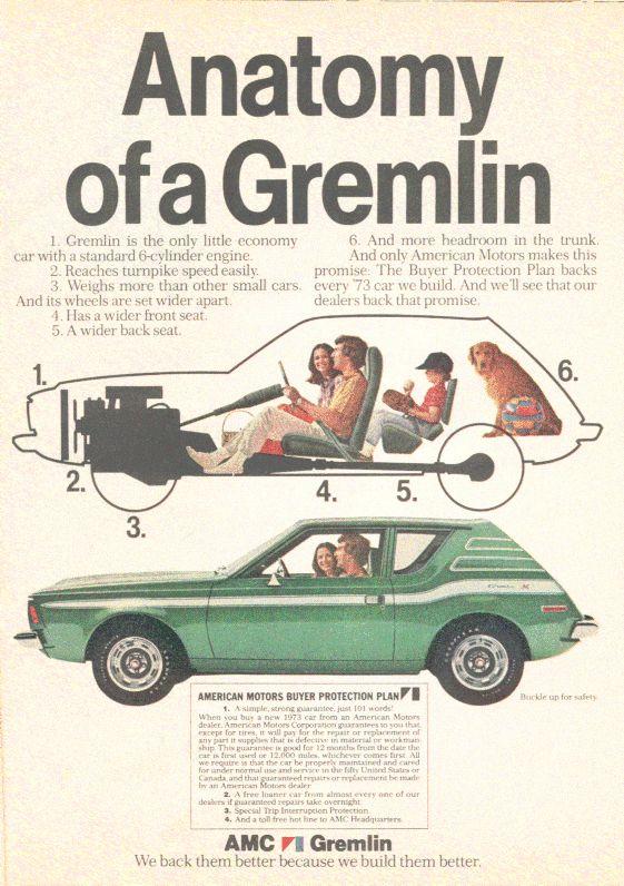 1973 AMC Gremlin. Remembering the 70's.
