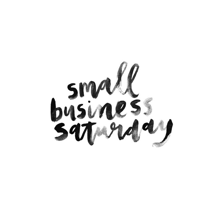 """©Cristina Martinez - Lettering """"Small Business Saturday"""""""