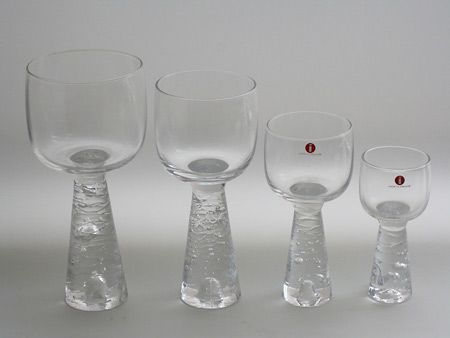 Arkipelago  lasisto, glass set 2144  Timo Sarpaneva  Iittala 1981-86