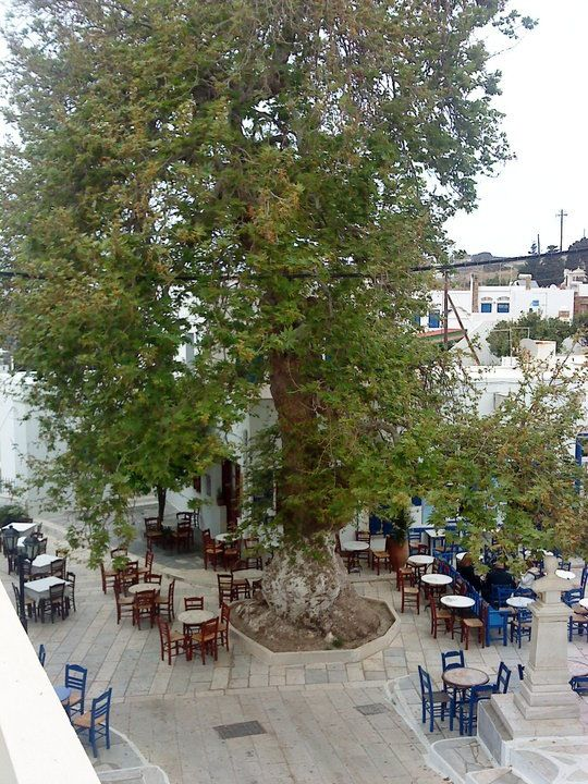 Central Square of Pyrgos,Tinos,Cyclades,Greece.