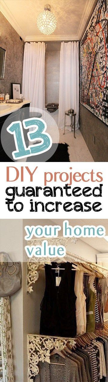 Attractive 13 DIY Projects Guaranteed To Increase Your Home Value