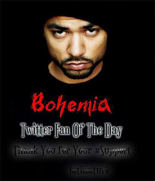 Everyday on Twitter. Follow me @Lynn Yildiz and @BOHEMIA the punjabi rapper