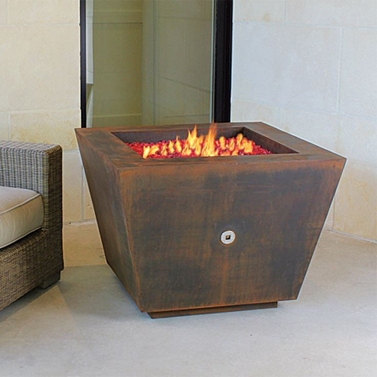 Cor Ten Steel Pyramid 33 In Fire Pit | Made In The USA