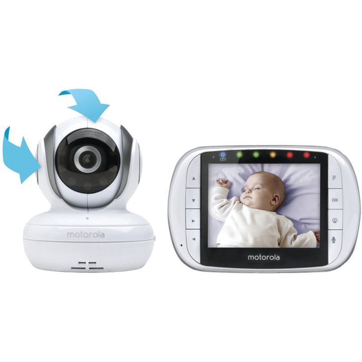 Motorola MBP36S Wireless Video Baby Monitor with 3.5 Inch Color LCD Screen: Amazon.ca: Baby