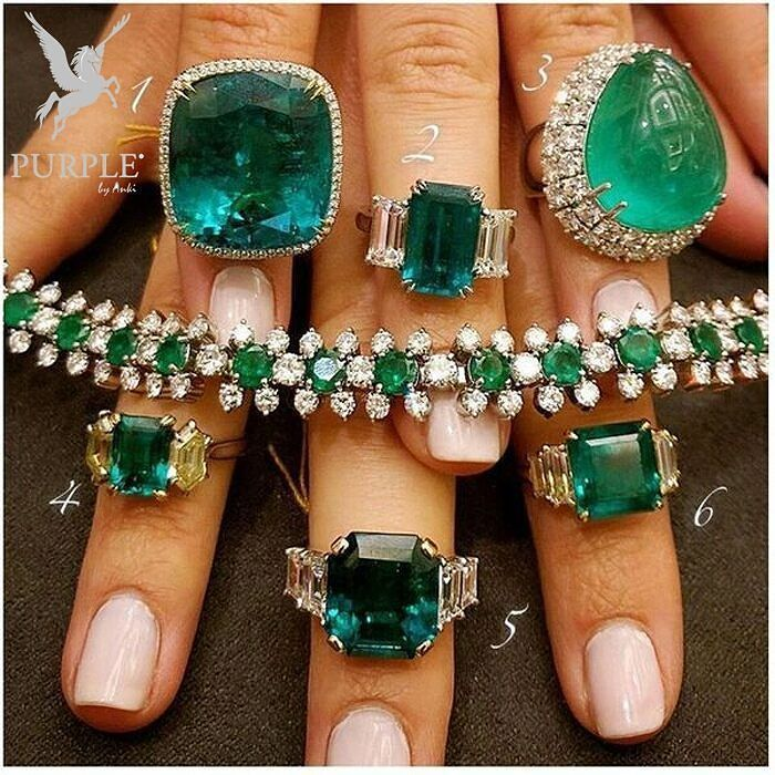 Be the center of attraction take a look at this Bonhams Emerald Ring by…