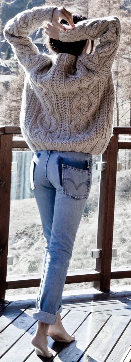 Blush Cable Knit Sweater Holiday Style Inspo                                                                             Source