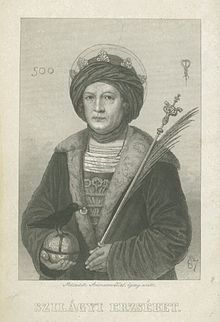 Countess Erzsébet Szilágyi, The mother of Matthias Corvinus. An active political figure even after the death of her husband. Her brother Michael was of influence getting Mathias on the throne. They later disagreed on political matters, Michael was taken by the Turks during a recklessly sought battle Mathias was against undertaking, was taken by the turks and tortured to death