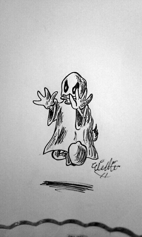 Inktober day #7! Spooky...