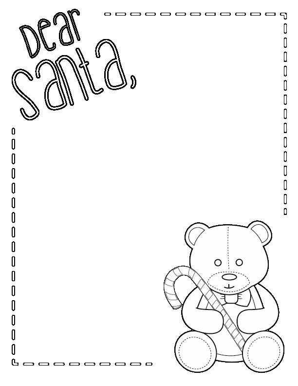 Letter From Santa Template Black And White Unique Santa Letter